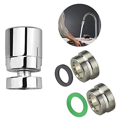 XAVSWRDE 3 piezas de aireador de grifo de 360 °/regulador de ahorro de agua/ahorro de agua/ahorro de agua/accesorio descalcificador para grifo de cocina, baño