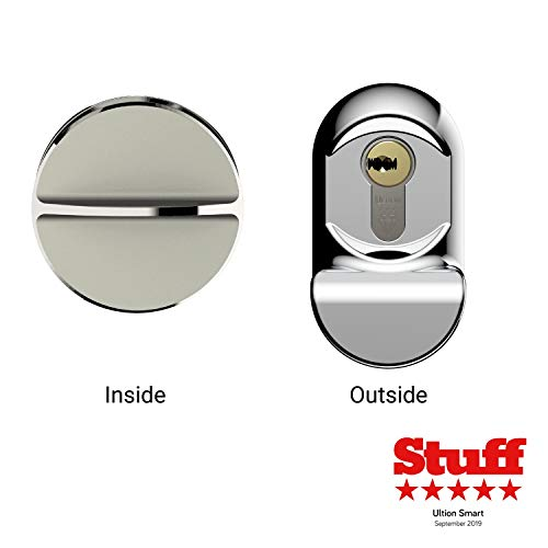 Ultion Smart Electronic Door Lock - with Keyed, Keypad and Wireless Keyless Entry - Advanced Home Security and Protection - Works with Smartphone App, Homekit, Zigbee Or Zwave Hubs - Escutcheon Door