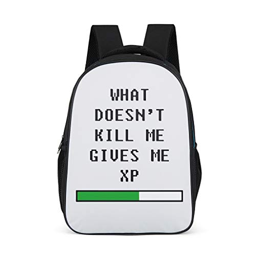 Girls What doesn't kill me Backpack Fashion Bookbag - Games Bookbag for Kids bright gray onesize