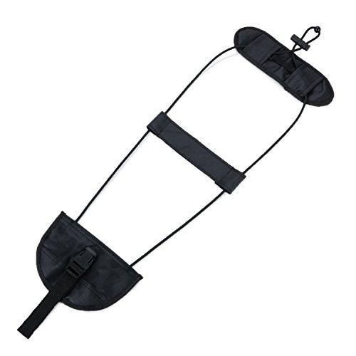 JewelryWe Gepäckriemen/Bungee Gepäck Reisetasche Verstellbare Verpackungsgürtel Koffer Sicherheitsgurt Schwarz
