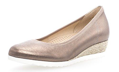 Gabor Damenschuhe 82.641.62 Damen Ballerinas, Pumps, Sommerschuhe, mehr Raum Dank Comfort-Mehrweite Rosa (rame (Jute)), UK 7