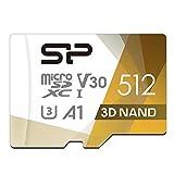 シリコンパワー microSD カード 512GB class10 UHS-1 U3 対応 最大読込100MB/s 4K対応 3D Nand 【Amazon.co.jp限定】 SP512GBSTXDU3V20AB