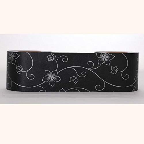 Papel pintado impermeable con diseño de flores primaverales, autoadhesivo, extraíble, para cocina, baño, salón, azulejos, 10 x 500 cm