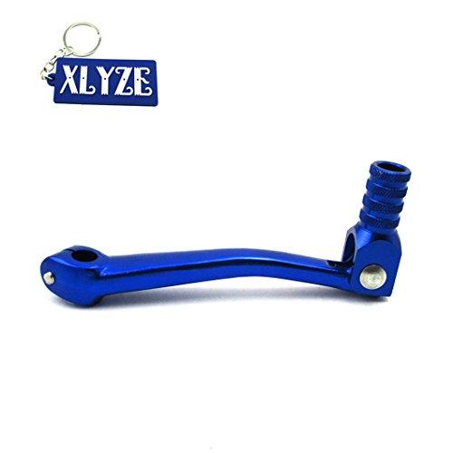 XLYZE CNC Palanca de cambio de palanca de cambios plegable de aluminio azul para 50cc 110cc 125cc 140cc 150cc 160cc Pit Dirt Bikes TTR XR50 CRF50 KLX110