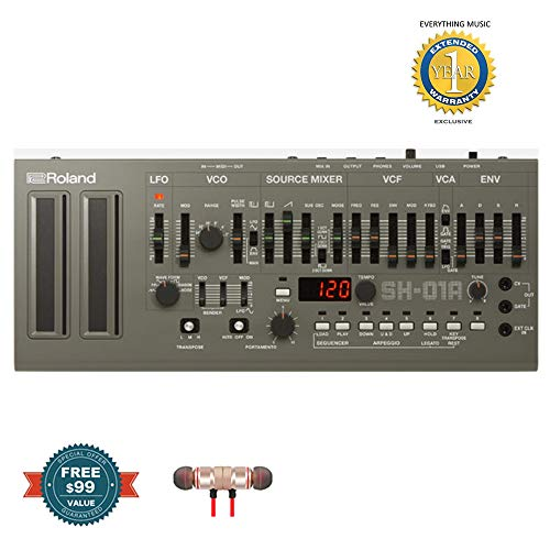 Find Bargain Roland SH-01A Boutique Series 4-voice Synthesizer Module includes Free Wireless Earbud...
