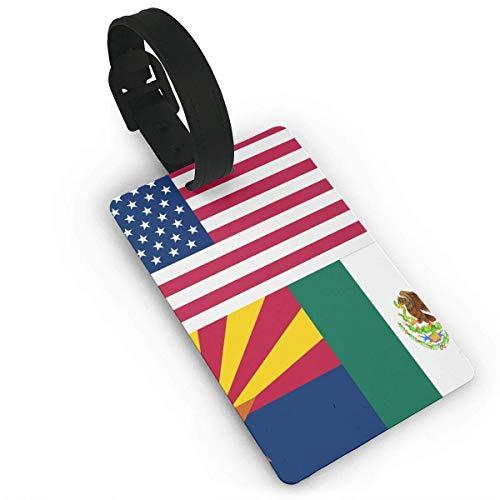 JKOVE Etiquetas Equipaje,USA Mexico Arizona Flag.PNG identificador de Maletas de Etiqueta de Plano...