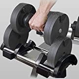 Tengma Adjustable Dumbbells(4.4lb - 44lb) - Weights Dumbbells Set Fitness Dial Dumbbell with Handle and Weight Plate for Home Gym Lifting Bodybuilding Training