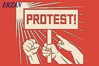 ERZAN500ピースのジグソーパズル抗議の戦いは人々を示すことに抵抗する大人の子供のための木製パズル