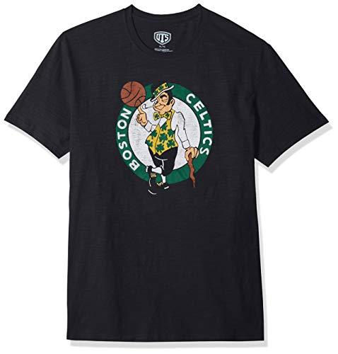 OTS NBA Boston Celtics Men's Slub Tee, Distressed Logo, XX-Large