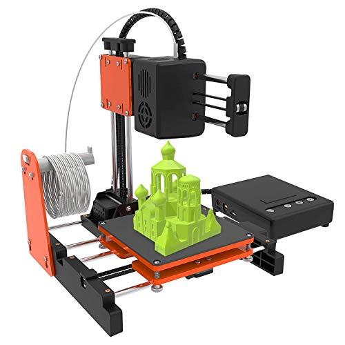 Mini 3D Printer for Household Education,Mini Desktop 3D Printer DIY Kit for Beginners Kids Teens with 10M 1.75mm PLA Filament, Magnetic Removable Plate, Printing Size 100 x 100 x 100mm (Orange&Black)