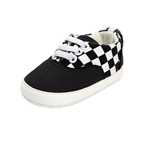 Meckior Infant Baby Girls Boys Canvas Shoes Soft Sole Toddler Slip On Crib Moccasins Casual Sneaker Austin Boy's Flat Lazy Loafers First Walkers Skate