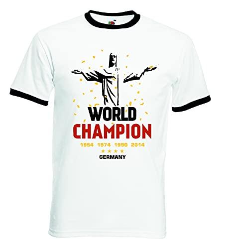 Deutschland World Champion Herren Retro T-Shirt Christus Rio Trikot XXL