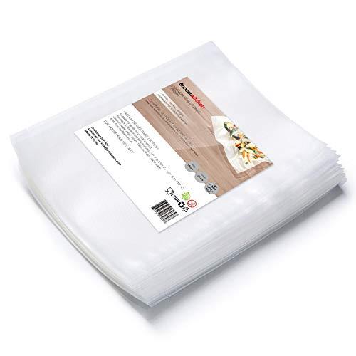 Bonsenkitchen Sacchetti Sottovuoto per Alimenti,50 Buste 15x25 cm Buste sottovuoto alimenti sacchetti goffrati Approvazione FDA e BPA Liberi