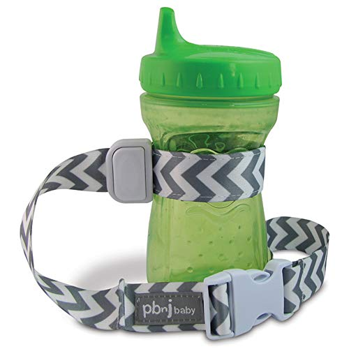 PBnJ Baby SippyPal Sippy Cup Strap Holder Leash Tether (1 Gray Chevron)