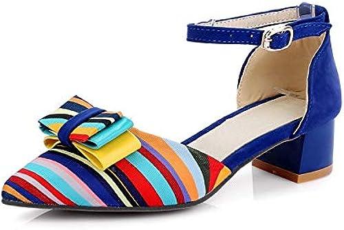 HommesGLTX Nouvelle Mode D'été Couleuré Couleuré Femmes Sandales Grande Taille 33-43 Arc Med Chunky Talons Chaussures Femme Parti Date Chaussures  no.1 en ligne