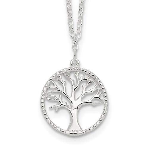 925 Sterling Silver Tree Of Life Chain Necklace Pendant Charm Leaf Fine Jewelry For Women Mothers Day Gifts For Her