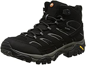 Merrell Men's Moab 2 Mid GTX High Rise Hiking Boots, Black, 10 M US