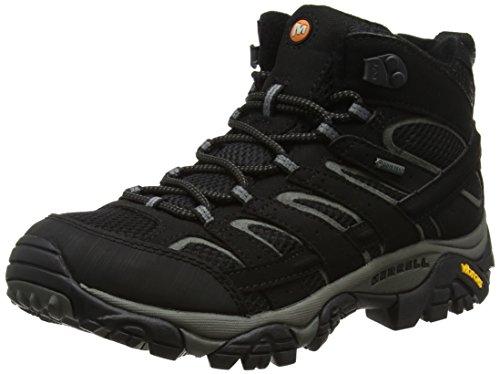 Merrell Herren Moab 2 Mid Gtx Trekking und Wanderstiefel, Schwarz Black, 44 EU