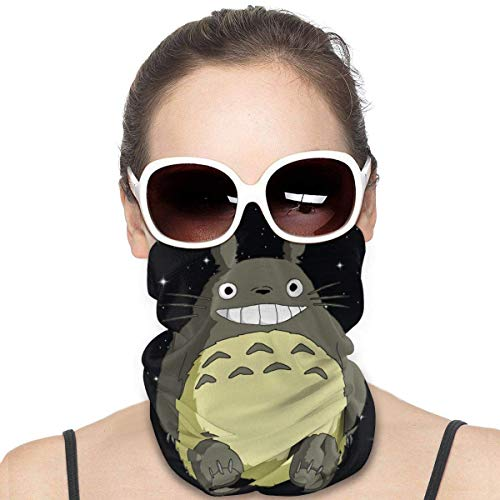 Night-Shop Mein Nachbar Totoro Bandana Sturmhaube Stirnband Gesichtsschal Hals Gamasche Cooler Halstuch Kopfbedeckung Kopfwickel Leichte atmungsaktive Unisex Cycling Magic Headcovers