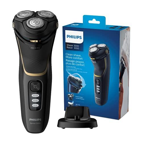 Philips Afeitadoras eléctricas S3333 / 54 Series 3000, Afeitadora eléctrica, Negro / Dorado