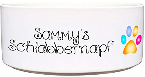 Cadouri Keramik Hundenapf » Schlabbernapf « ︎ personalisiert ︎ mit Name deines Hundes┊Futternapf Wassernapf - 1.300 ml