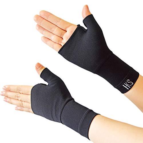 BIG masow 親指 腕 手首 サポーター 段階着圧設計 防臭 吸汗速乾 スポーツ 家事 育児 マウス 男女兼用 左右兼用(ブラック, L)