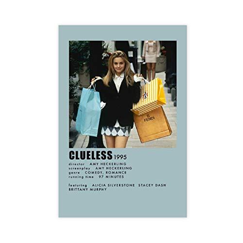 Clueless Aesthetic Movie Poster 90er Jahre Vintage Poster für Zimmer Ästhetische Leinwand Poster Wandkunst Dekor Druck Bild Gemälde für Wohnzimmer Schlafzimmer Dekoration 30 × 45 cm Unframe style1