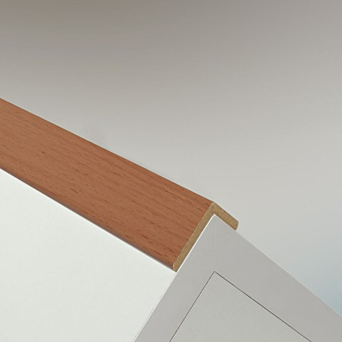 Winkelleiste Schutzwinkel Winkelprofil Tapeten-Eckleiste Abschlussleiste Abdeckleiste aus MDF in Buche 2600 x 42 x 22 mm