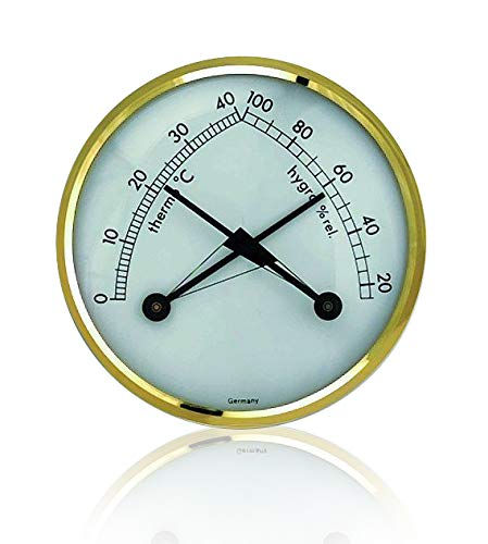 TFA KLIMATHERM Thermo-hygrometer with brass bezel