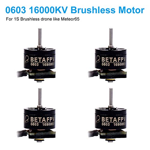 BETAFPV 4pcs 0603 16000KV Brushless Motor 1S FPV Motor for 1S Brushless 65mm Micro Drone FPV Tiny Whoop Drone Like Meteor65