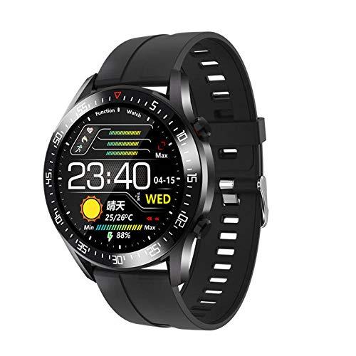 Reloj Inteligente para Hombres, con Monitor de frecuencia cardíaca, presión Arterial, rastreador de Ejercicios, Reloj Inteligente, Relojes Inteligentes Deportivos Impermeables para Hombres-A