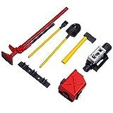 RC Rock Crawler Accessori, con scavo pala serbatoio carburante alto Jack verricello per scala 1/10 RC auto D90 SCX10, accessorio decorativo in plastica leggera