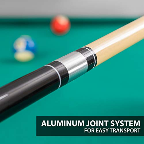 EastPoint Sports Deluxe Wood Billiard Cue - 57 Inch - Features Premium Hardwood Material (Color May Vary)