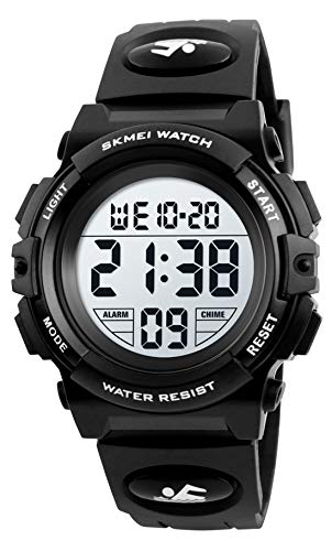 Dreamingbox Kids Digital Sport Watch, Waterproof Watch for Boys Watches Ages 8-12 Teenage Kids Watches Boys Kids Thanksgiving Christmas Halloween Birthday Gifts for Kids Boys Stocking Stuffers Black