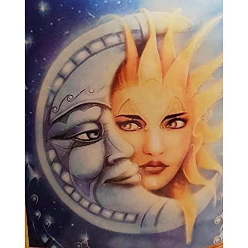 Ronda completa 5D DIY diamante pintura luna sol bordado patrón cruz kits mosaico pared pegatinas