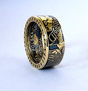 Ritter im Kampf - Münze Ring, handgemachte Siegel, Schmuck, Promise Ringe, Verlobungsring, historischer Ring, Ehering, Souvenir