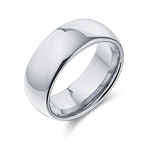 Bling Jewelry Tungsten High Polished Comfort Fit Domed Wedding Band Ring M