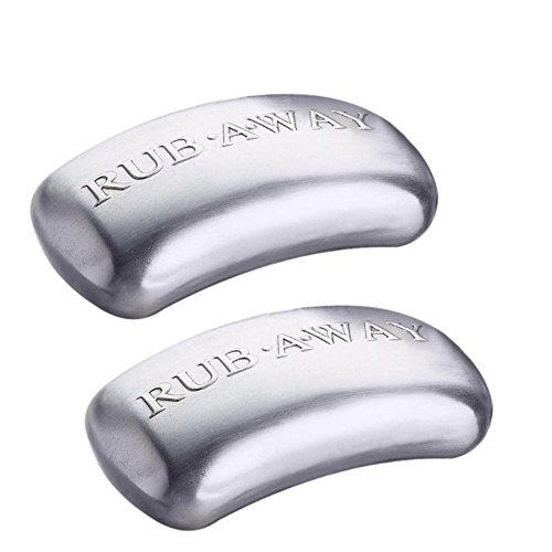 Amco Rub-a-Way Bar Stainless Steel Odor Absorber, 2 Pack - Silver