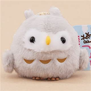 Cute grey owl plush toy from Japan