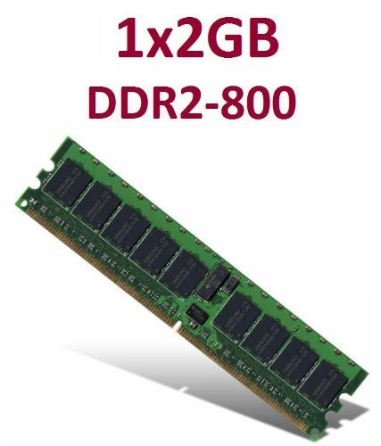 Memoria interna de 2 GB, 240 pines, DDR2-800 DIMM, 800 MHz, PC2-6400, 128 M x 8 x 16, compatible con memoria RAM DDR2-667, PC2-5300, DDR2-533 y PC2-4200