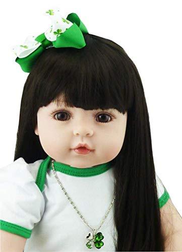Reborn Babypuppen 60 cm 24 In realistischen Reborn Babies Weiches Silikon Kinder Playmate Lebensechte Babypuppe für Weihnachtsgeschenksammlung