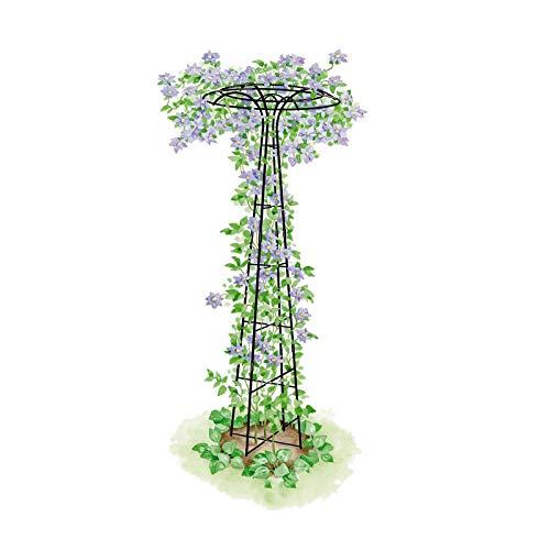 CJSWT Rankhilfe freistehend, Beet, Topfpflanzen, wetterfest, Kletterhilfe,Garten Gitter für Kletterpflanzen und Blumen, Metallpflanze Gitter für den Außenbereich, Pilz, Garten Pylon