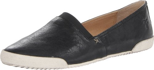 Frye Women's Melanie Slip On Sneaker, Black, 6.5 Medium US