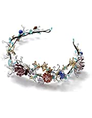 Corona de flores Novia Tiara Accesorios para el Cabello Correa Hecha a Mano con Cuentas de niña Corona &Guirnalda de Flores