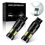 2Pcs Double lentille Blanc 7443 7443NA LED Ampoules 21SMD 3030 Puce Super Lumineux Spotlight pour Voiture Feu de Renversant Position Arrière feu Antibrouillard Arrière 12V