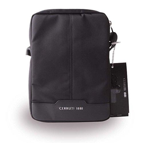 Cerruti 1881 CETB10NYBK Nylon Echtleder Tablet-Tasche, 22,86-25,4 cm (9-10 Zoll) schwarz