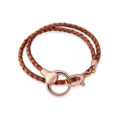Gemma J Rose Gold Snaffle Wrap Bracelet