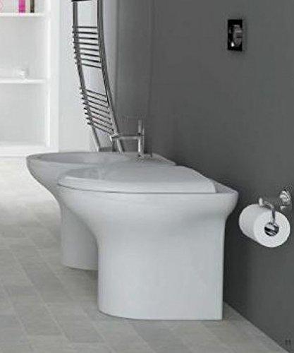 Sanitari bagno vaso a terra con bidet,compreso di coprivaso compatibile,Pop Cielo