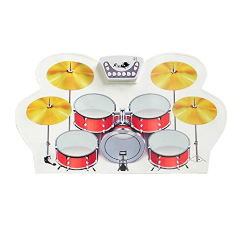 Best Buy! Electronic Drum Set USB Roll Up Drum Set With 9 Silicon Pads Portable Electronic Practice ...