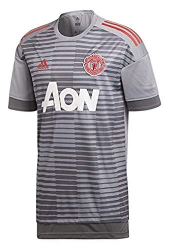 adidas Manchester United FC Camiseta Calentamiento, Hombre, Gris (Gricin), XS